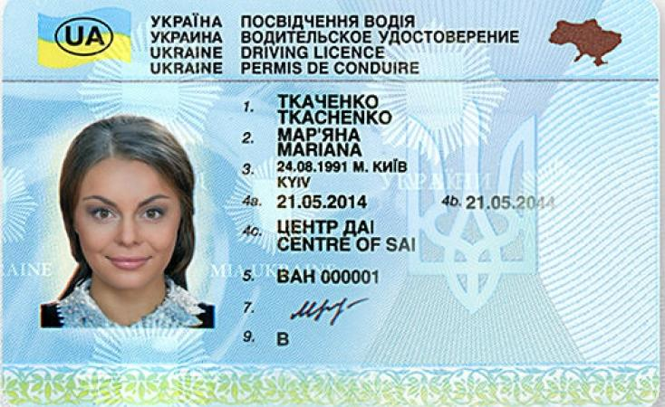 Водительское удостоверение Украины в России